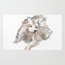 watercolor dog vol 14 samoyed Rug