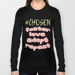 "Great Tee typography design saying ""Chosen"" and showing your the chosen one! Chosen, GIRLS CHOSEN Long Sleeve T-shirt"