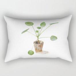 Pilea. Chinese money plant. Rectangular Pillow