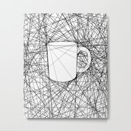 Coffee Web Metal Print