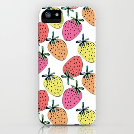 Strawberry mix iPhone Case