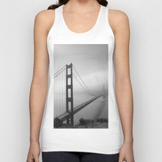 The Golden Gate Bidge In A Mist Unisex Tank Top