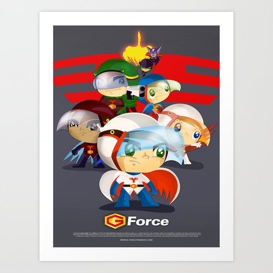 G force Art Print