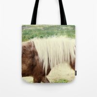 pony Tote Bags featuring Pony by angela haugland