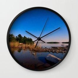 Star Lit Rocks Wall Clock