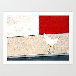 Donald crosses the road Art Print