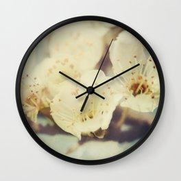 Golden Light Cherryblossom Wall Clock