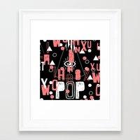 1989 Framed Art Prints featuring x.1989 by Nikola Nupra