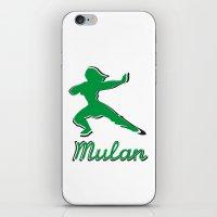 mulan iPhone & iPod Skins featuring Mulan by husavendaczek