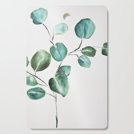 Eucalyptus leaves, illustration, botanical Cutting Board