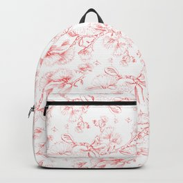 Red pohutukawa pattern Backpack