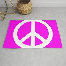 Peace (White & Magenta) Rug