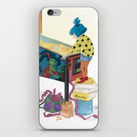 gamer iPhone & iPod Skins featuring Gamer  by Lesley Vamos