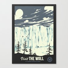 Visit the wall Canvas Print