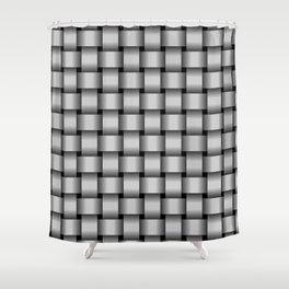 Light Gray Weave Shower Curtain