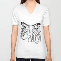 ganesh V-neck T-shirts featuring Ganesh by Luis Viteri