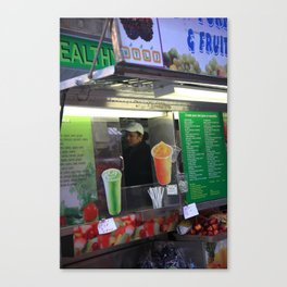 New York Street Vendor 2013 Canvas Print