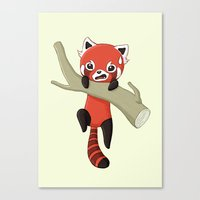 red panda Canvas Prints featuring Red Panda by Freeminds