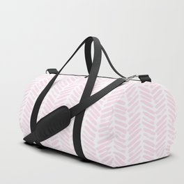 Handpainted Chevron pattern light pink stripes Duffle Bag