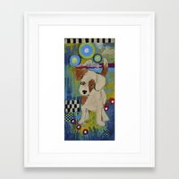 jack russell Framed Art Prints featuring jack russell by whimsyville