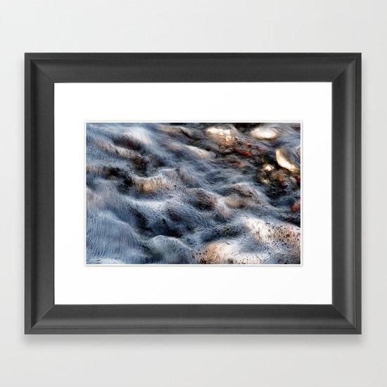 Wavy sea Framed Art Print