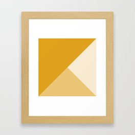 Mustard Tones Framed Art Print
