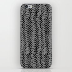 Hand Knit Dark Grey iPhone Skin