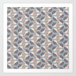 Hedgehogs Pattern Art Print
