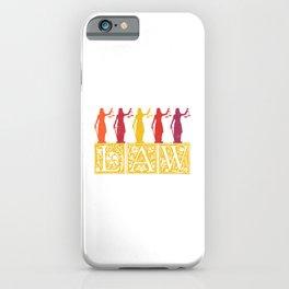 Lawyer Law Student Lady Justice Vintage iPhone Case