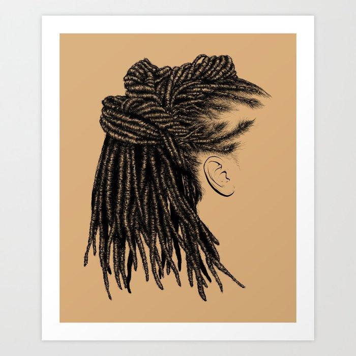 Crown: Wrapped Locs Art Print