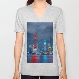 Shangai, China Unisex V-Neck