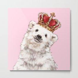 Prince Baby Polar Bear Metal Print