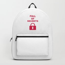 Full of Secrets Lock Backpack