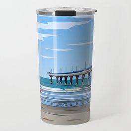 New Brighton Pier, Christchurch, NZ Travel Mug