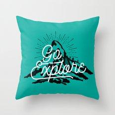 Go To Explore Throw Pillow