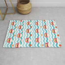 ac cute scallop lover pascal Rug
