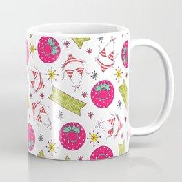 Modern pink green beach summer pattern typography Coffee Mug