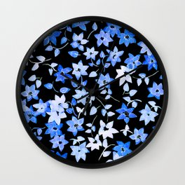 Blue Bougainvillea Wall Clock