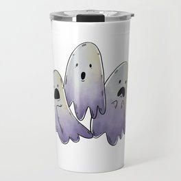 Scared Ghosts with Halloween Candy Travel Mug