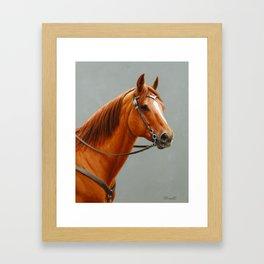 Red Dun Western Quarter Horse Framed Art Print