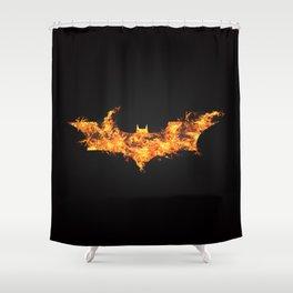 Super Hero on Fire Shower Curtain
