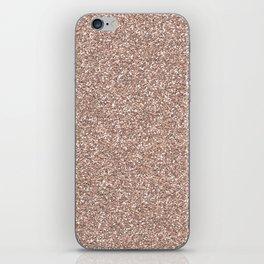 Rose gold glitter iPhone Skin