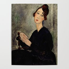 "Amedeo Modigliani ""Portrait of Dedie"" Poster"