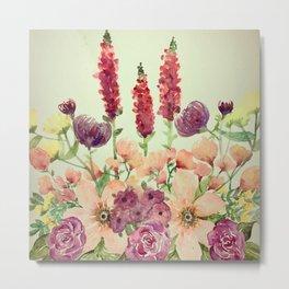Floral Field Metal Print