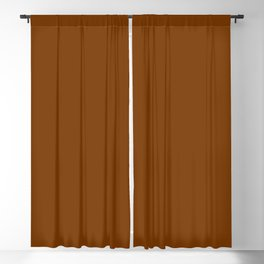 Best Seller Colors of Autumn Spice Dark Brown Single Solid Color - Accent Shade - Hue - Colour Blackout Curtain