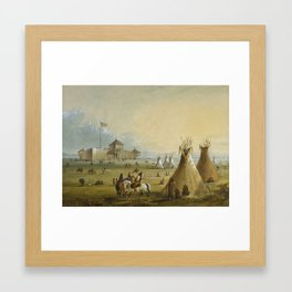 Alfred Jacob Miller - Fort Laramie Framed Art Print