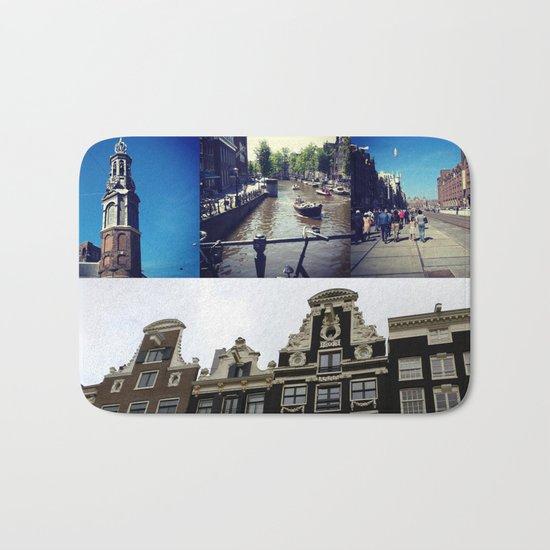 Photo collage Amsterdam 2 Bath Mat