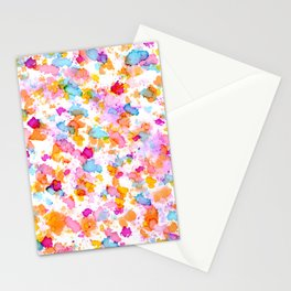 Birthday Party Confetti - Drops of Colorful Ink Stationery Cards
