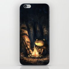 Campfire Frog iPhone & iPod Skin