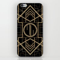 the great gatsby iPhone & iPod Skins featuring MJW- GREAT GATSBY STYLE by MATT WARING